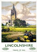 Lincolnshire, Travel by Rail. Vintage LNER Travel Poster by 'B' (John Bee)